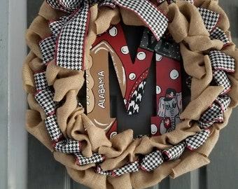 Initial door Wreaths.. Custom door wreath intials.  Favorite team, sport, Tv show , movie or just something you love .
