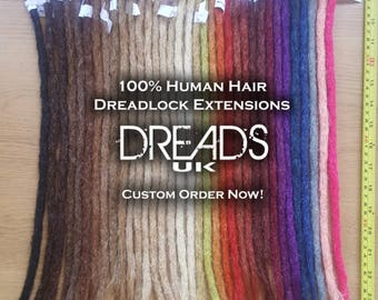 Dreadlock extensions etsy 10 x human hair dreadlock extensions custom orders any colour pmusecretfo Choice Image
