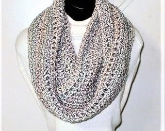Infinity Scarf, Gray Scarves, Crochet Scarves, Winter Scarves, J'NING Accessories, Circle Scarves, Multi Color Scarves, Ladies Scarves,