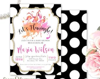 Let's Flamingle Baby Shower Invitation, Flamingo Invitation, Let's Flamingle Invites, Couple's Shower, Bridal Shower, Flamingo Themed Invite