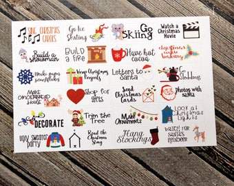 Christmas Bucket List Planner Stickers - for use with Erin Condren - Happy Planner