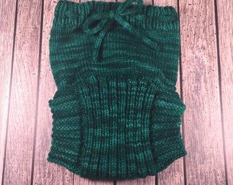 Custom Wool Soaker - Hand Knit Wool Soaker - Wool Diaper Cover - Diaper Cover - Green Wool Diaper Cover