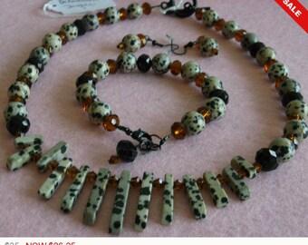 Dalmation Jasper Jewelry Set
