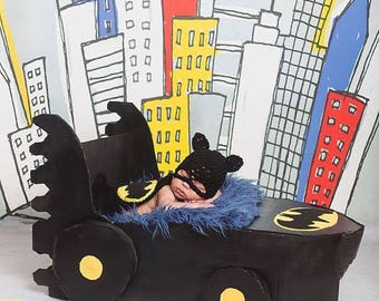 Bat Hero Outfit / Photo Prop, Perfect for Baby's First Pictures or Halloween