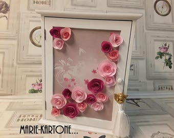 """Small cupboard for girl or little girl """"Flight of roses"""" box"""