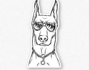 Ace - Doberman Pinscher Dog Decal Sticker