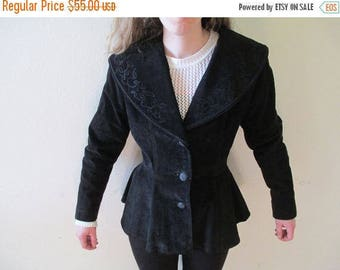 Jacket - Black Coat - Coats - Stylish Jacket - The Cutest Coat in the World.  Size Small