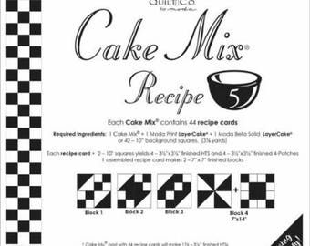 Cake Mix Recipe Cards - Sets 5-8 Miss Rosie's Quilt Company Patterns for Layer Cakes