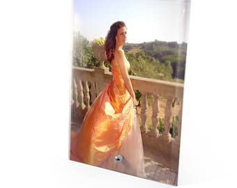 Personalised Glass Photo Desk Display Plaque 17.5x12.5cm