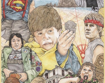 The Goonies Movie Poster Print Artist Chris Oz Fulton
