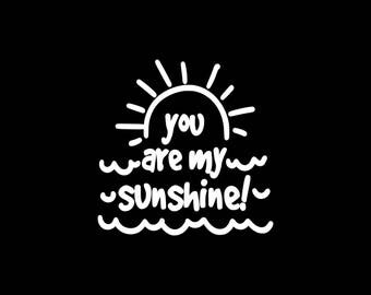 You are My Sunshine Decal,Summer, Love Summer Car Decal Beach Travel Yeti Tumbler Cooler Tablet Laptop Vinyl Decal Stickers Love Decal