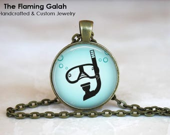DIVING MASK Pendant •  Snorkel Mask •  Snorkelling •  Scuba Gear •  Gift for Ocean Lover • Gift Under 20 • Made in Australia (P1500)