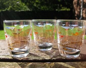 Three Mid Century Shot Glasses