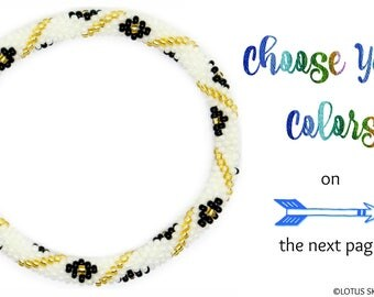 Custom Nepal Roll On Bracelet, Glass Bead Nepal Bracelet, Friendship Bracelet, Personalized Bracelet, Beaded Bracelet, Bangle Bracelet