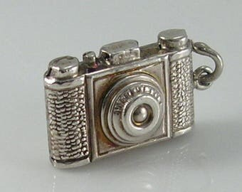 Vintage 3D Sterling Silver Camera Charm