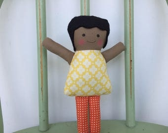 Handmade rag doll, little doll for little hands, perfect for imaginative play!