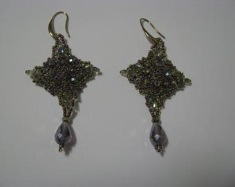 Lalibela earrings with Rocaille and Superduo