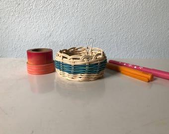 """Hand woven basket """"Pure Aqua"""""""
