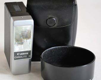 Canon Canolite D Flash and BS-52 Lens Hood