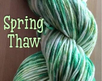 Hand dyed yarn, DK yarn, Superwash merino wool, ready to ship