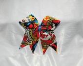 Wonder Woman Piggy Tail Cheer Bow Hair Bow
