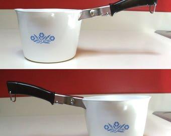 Corningware Saucemaker 4 Cup Measuring Pan P 55 B Style Cornflower Blue Corning Ware Pattern Detachable Handle Quart Corn Flower Sauce Maker