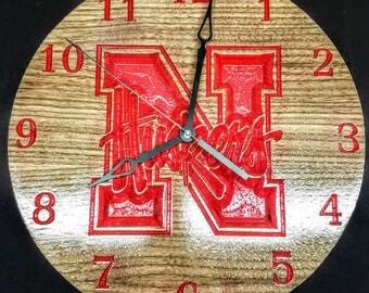 Nebraska Huskers Clock
