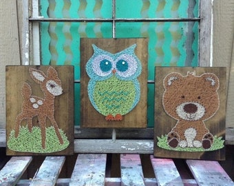 string art owl etsy. Black Bedroom Furniture Sets. Home Design Ideas
