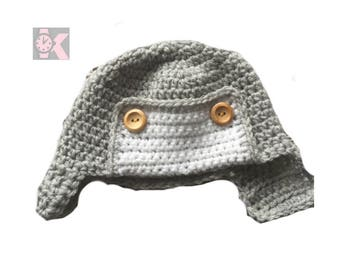 Classic Aviator Pilot Wooly beanie hat - Fly From the Airport to the Stars
