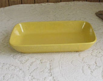 Stangl Pottery Yellow Tray Condiments or Trinket Dish Vintage Yellow Kitchens