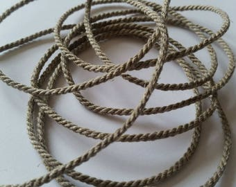 Linen, linen Ribbon cord. Sold per 1 meter