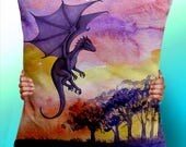 Dragon Painting - Cushion / Pillow Cover / Panel / Fabric