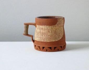 Coffee Mug - Brick/Straw with Brown Interior