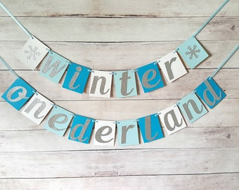 Winter Onederland Banner, Winter Onederland Party Decorations, Winter Onederland Birthday, Boy Winter Onederland, Boy Snowflake Birthday,