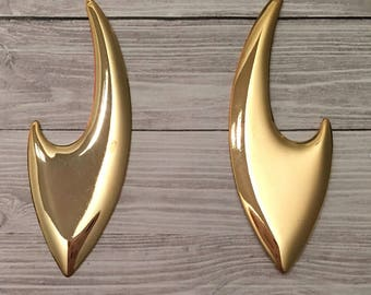 Ray Gold Plated Earrings