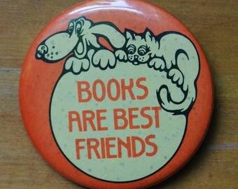 Vintage Bookworm Pin
