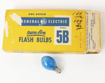 3 Boxes of General Electric 5B Sure Fire Flash Bulbs, 36 Total Bulbs