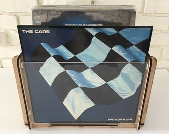 "The Cars ""Panorama"" Vinyl Record Album and Record Storage Display Crate - Great Gift Idea"