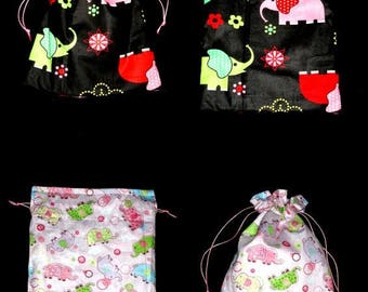 bag or reversible pouch for toys, snacks...