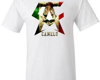 Saul Canelo Alvarez Boxing Men's White T shirt