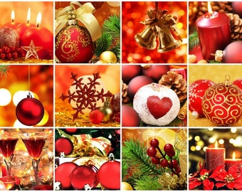 Laminated placemat red christmas decorations