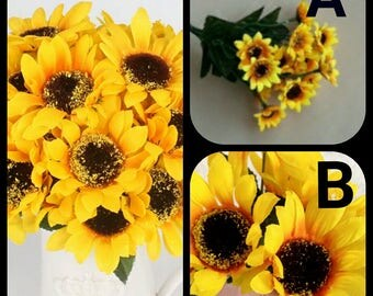 Lot of 4 bunches Bouquet Home Party Decor Display Artificial Silk Flower Simulation Sunflower Bouquet DIY artificial flowers