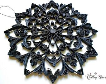 Quilled mandala – wall decoration – paper art – paper ornament