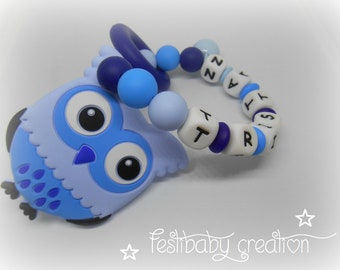 Hochet dentition, Greifling, personalized silicone teether