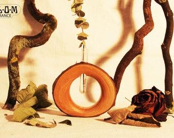 Round vase cherry wood