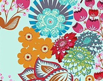 Anna Maria Horner Hand Drawn Lou Lou Thi Summer Totem in Strudel OOP VHTF Free Spirit Fabric_Fat Quarter