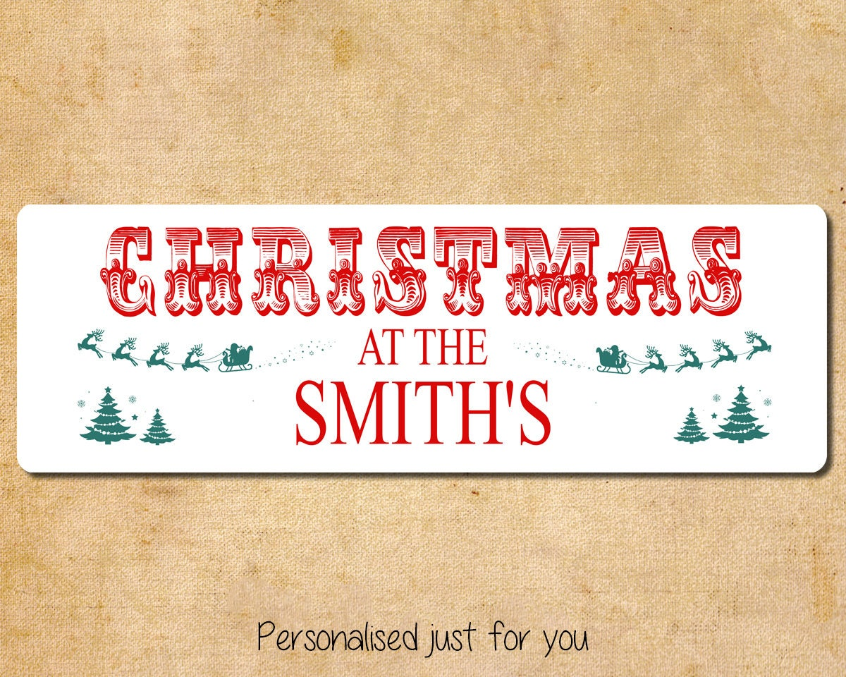 Christmas At The..... With Personalised Name. Traditional Christmas ...