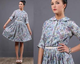 Vintage dress - prom dress - vintage 50s dress - 50s dress - Party dress - cocktail dress - 1950 - medium dress
