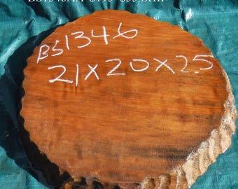 redwood burl slab - live edge table slab - wall mount -  bs1346