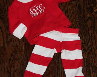 CHRISTMAS PAJAMAS- For Your DOLL!!